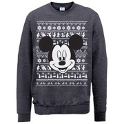 Disney Mickey Mouse Christmas Mickey Head Sweatshirt -  Dark Heather