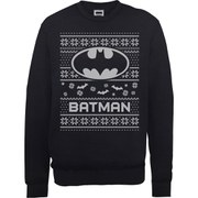 DC Comics Batman Christmas Sweatshirt - Black