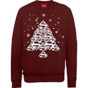 DC Comics Superman Christmas Super Christmas Tree Sweatshirt - Maroon