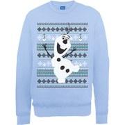 Disney Frozen Christmas Olaf Dance Sweatshirt -  Light Blue