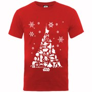 Star Wars Men's Christmas Tree T-Shirt - Red