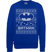 DC Comics Batman Christmas Sweatshirt - Royal Blue