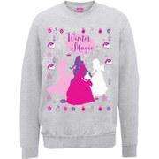 Disney Princess Christmas Silhouettes Sweatshirt - Heather Grey