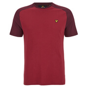 Lyle & Scott Vintage Men's Saddle Shoulder T-Shirt - Claret