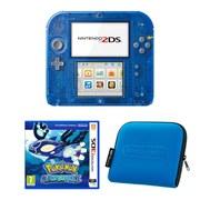 Nintendo 2DS Transparent Blue + Pokémon Alpha Sapphire Pack