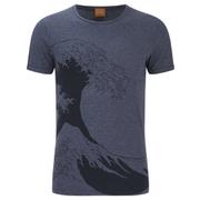 BOSS Orange Men's Telson 1 Patterned T-Shirt - Navy