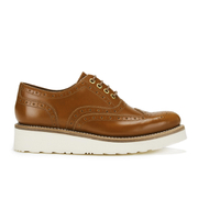 Grenson Women's Emily V Leather Brogues - Amber Rub Off