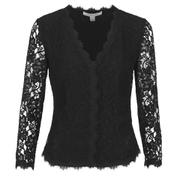 Diane von Furstenberg Women's Bria Lace Cardigan - Black