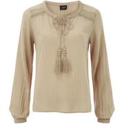 VILA Women's Slilla Long Sleeve Blouse - Soft Caramel