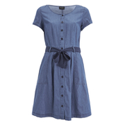 VILA Women's Kari Denim Dress - Dark Blue
