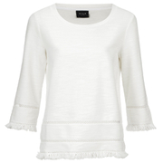 VILA Women's Verona 3/4 Sleeve Top - Pristine