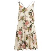 VILA Women's Flourish Spring Strap Dress - Pristine
