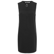 T by Alexander Wang Women's Stretch Faille Sleeveless Shift Dress - Black