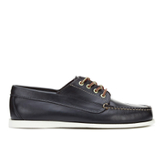 G.H Bass & Co. Men's Camp Moc Jackman Pull Up Leather Boat Shoes - Navy