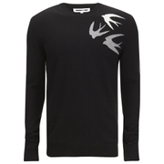 McQ Alexander McQueen Men's Small Swallow Crew Neck Jumper - Darkest Black