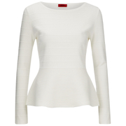HUGO Women's Scilly Knitted Jumper - White