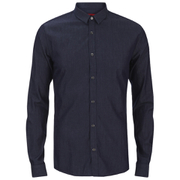 HUGO Men's Ero3 Long Sleeve Shirt - Dark Blue