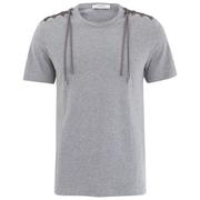 Versace Collection Men's Shoulder Detail T-Shirt - Grey
