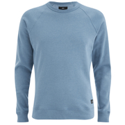 OBEY Clothing Men's Lofty Creature Comforts Crew Sweatshirt - Heather Faded Indigo