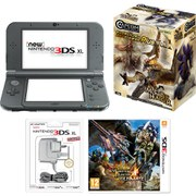 New Nintendo 3DS XL Metallic Black + Monster Hunter 4 Ultimate Pack