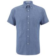 GANT Rugger Men's Chambray Short Sleeve Shirt - Indigo