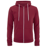 Soul Star Men's Berkley Zip Through Hoody - Red