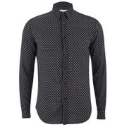 AMI Men's Classic Shirt - Black/ White