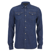 Scotch & Soda Men's Classic Western Shirt - Blue