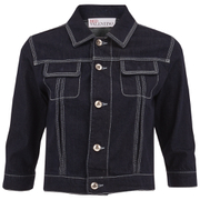 REDValentino Women's Cropped Denim Jacket - Blue