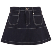 REDValentino Women's Mini Denim Skirt - Blue