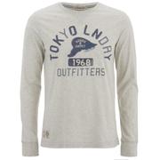 Tokyo Laundry Men's Dane Long Sleeved Top - Oat Grey Marl