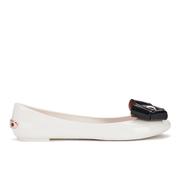 Ted Baker Women's Faiyte Jelly Bow Ballet Pumps - Cream/Black
