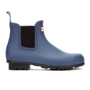 Hunter Men's Original Dark Sole Chelsea Boots - Tarp Blue