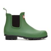 Hunter Men's Original Dark Sole Chelsea Boots - Bright Green