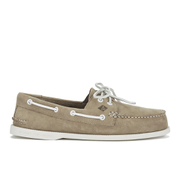 Sperry Men's A/O 2-Eye Washable Leather Boat Shoes - Taupe