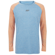 Myprotein Men's Loose Fit Training Top - Blue & Orange