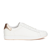 Paul Smith Shoes Women's Rabbit Leather Trainers - White Mono Lux