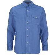 Garbstore Men's Fall Long Sleeve Shirt - Blue
