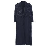French Connection Women's Embellished Long Kimono - Navy