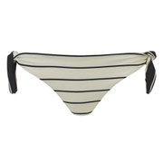 Solid & Striped Women's The Jane Bikini Bottom - Black & Cream Stripe