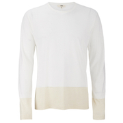YMC Men's Block Long Sleeve T-Shirt - Cream
