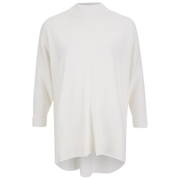 Gestuz Women's Retro Turtleneck Jumper - White