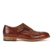 Paul Smith Shoes Men's Atkins Leather Monk Shoes - Tan Parma
