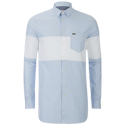 Lacoste Live Men's Long Sleeve Shirt - Blue Oxford