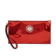 Versus Versace Women's Metallic Clutch Bag - Red