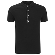 Versus Versace Men's Placket Detail Polo Shirt - Black