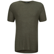 T by Alexander Wang Men's Slub Rayon Short Sleeve T-Shirt - Army