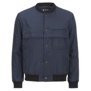 T by Alexander Wang Men's Nylon Bomber Jacket - Petrol