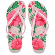 Havaianas Women's Slim Floral Flip Flops - Crystal Rose