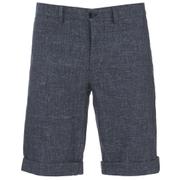 J.Lindeberg Men's Linen Mix Shorts - Navy